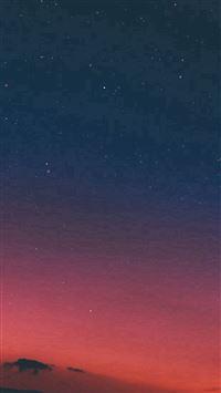 Night Sky Sunset Pink Nature iPhone se wallpaper