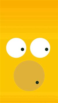 Funny Homer Simpson Minimal Illustration iPhone se wallpaper