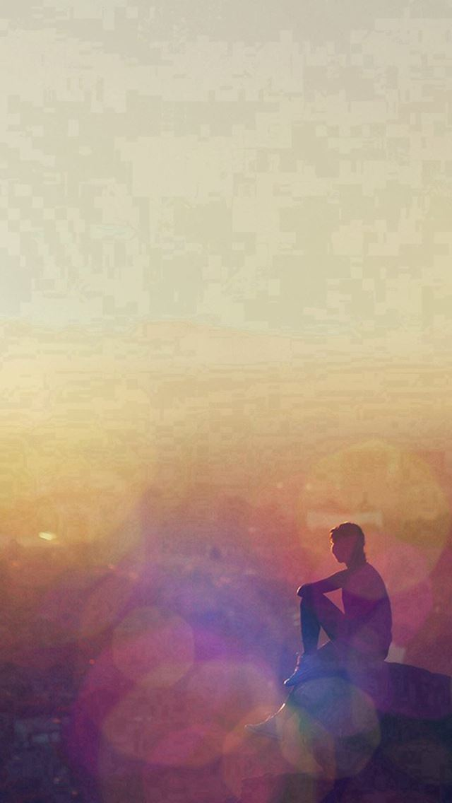 Mrning Mountain Girl Alone After Running Flare iPhone se wallpaper