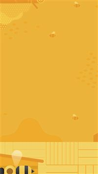 Minimal Honey Yellow Art Illustration Cute iPhone se wallpaper