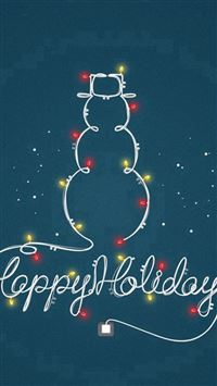 Happy Holidays Light Decoration Snowman iPhone se wallpaper