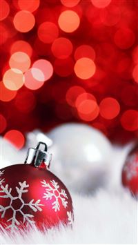 Christmas bokeh iPhone se wallpaper