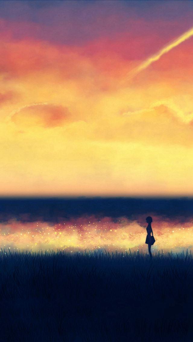 Sunset paint iPhone se wallpaper