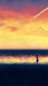 Sunset paint iPhone wallpaper