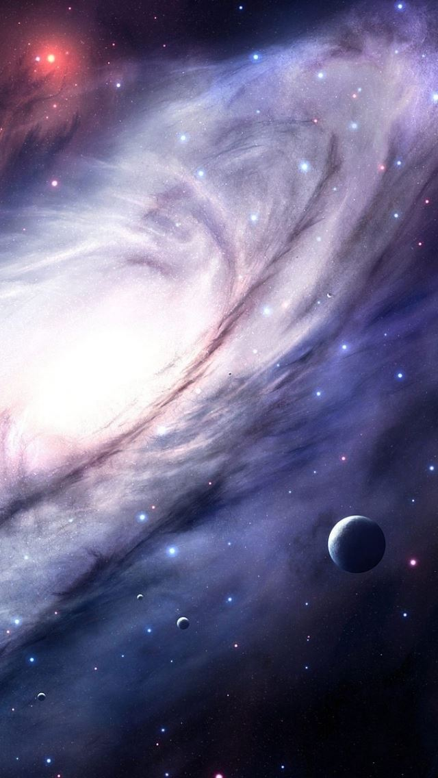 Space sky 3d art iPhone se wallpaper
