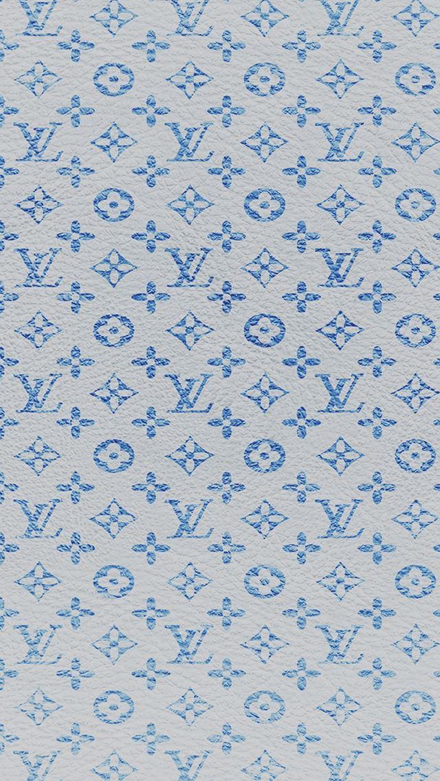 Louis Vuitton blue pattern iPhone se wallpaper