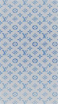 Louis Vuitton blue pattern iPhone wallpaper