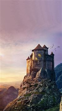 Castle mountain iPhone wallpaper