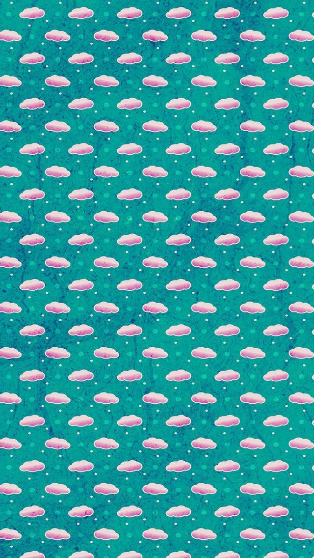 Cloud texture green art pattern iPhone se wallpaper