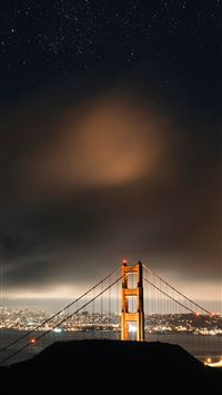 The golden gate bridge night view iPhone se wallpaper