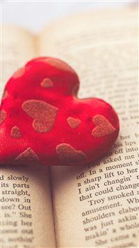Heart love book iPhone wallpaper