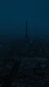 Paris dark blue city iPhone se wallpaper