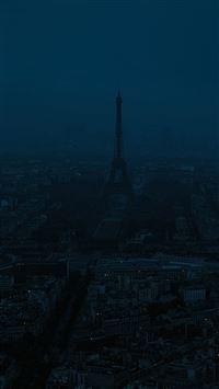 Paris dark blue city iPhone se wallpaper
