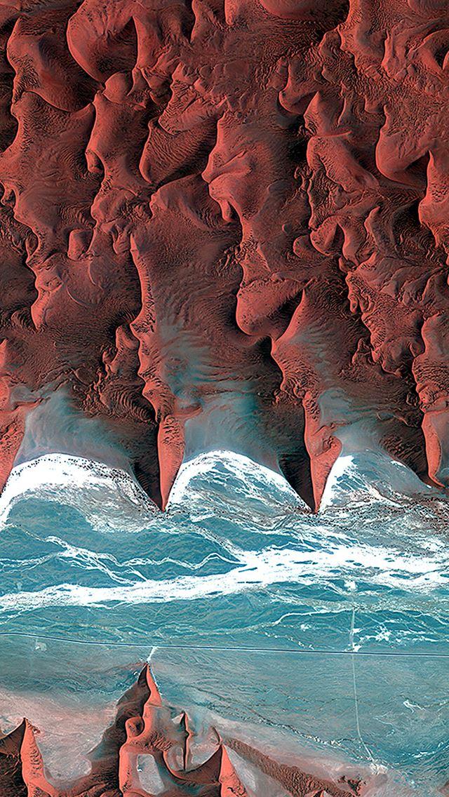 Desert red earthview pattern iPhone se wallpaper