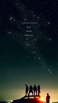 Start sky night space iPhone se wallpaper