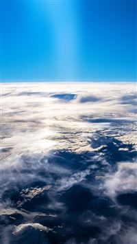 Sky earth blue fly cloud sunny iPhone se wallpaper