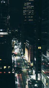 City night traffic dark iPhone se wallpaper
