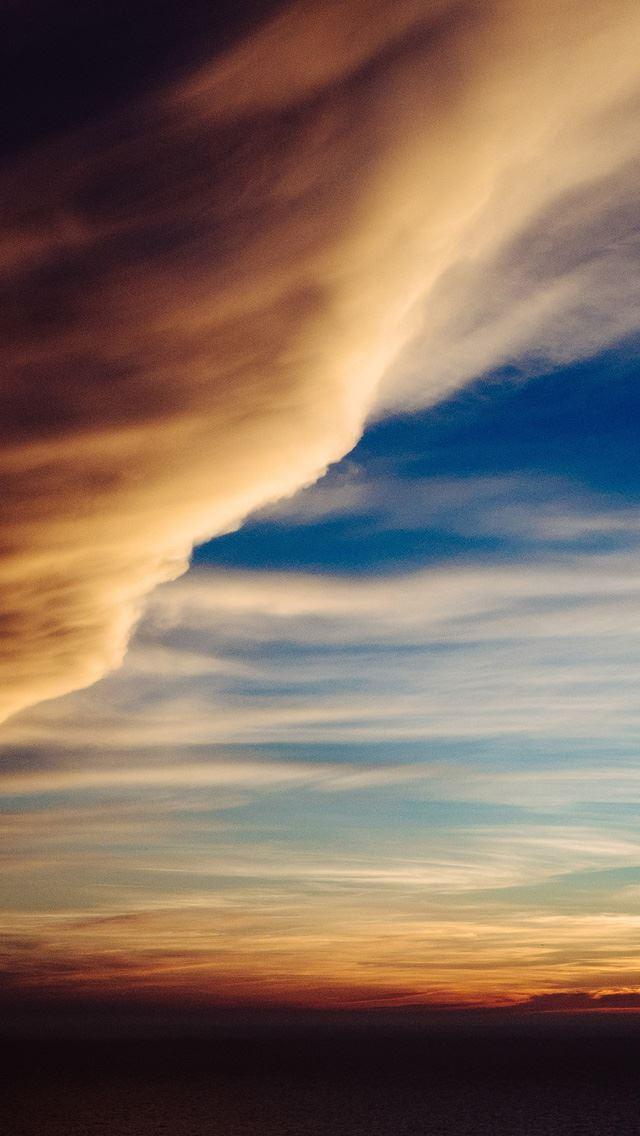 Cloud sky rainbow sunset iPhone se wallpaper