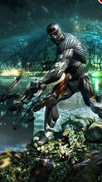 Crysis 3 poster HD iPhone se wallpaper