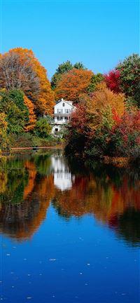 Autumn Lake iPhone se wallpaper