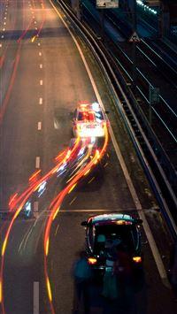 Highway at Night iPhone se wallpaper