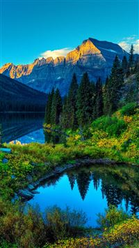 HDR Mountains Lake iPhone se wallpaper
