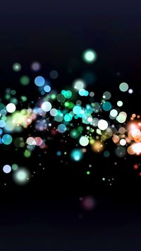 Lights Circles Bokeh iPhone se wallpaper