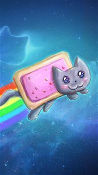 Nyan Cat Pop Tarts iPhone 5(s/c)~se wallpaper