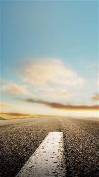Nature Horizon Roads iPhone se wallpaper