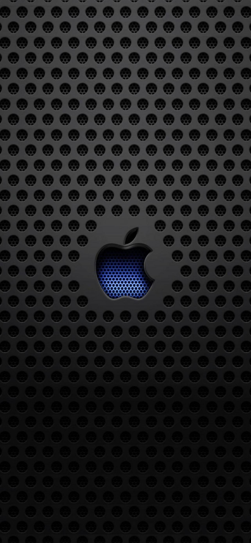 Apple Logo Metal Texture iPhone se wallpaper