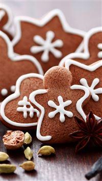 Gingerbread Figures iPhone se wallpaper