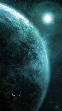 Moon Earth iPhone se wallpaper