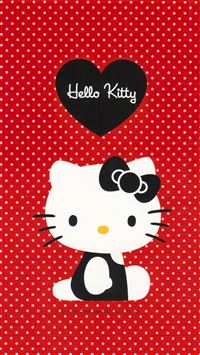 Red hello kitty iPhone se wallpaper