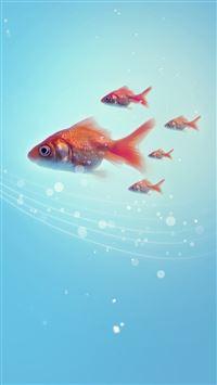 Goldfish iPhone se wallpaper