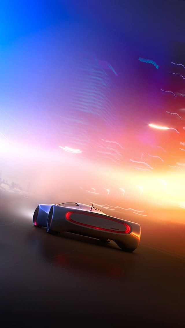Concept Car Syd Mead comp iPhone se wallpaper