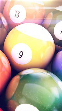 Billiards Balls iPhone se wallpaper