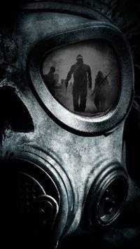 Skull Gas Mask iPhone se wallpaper