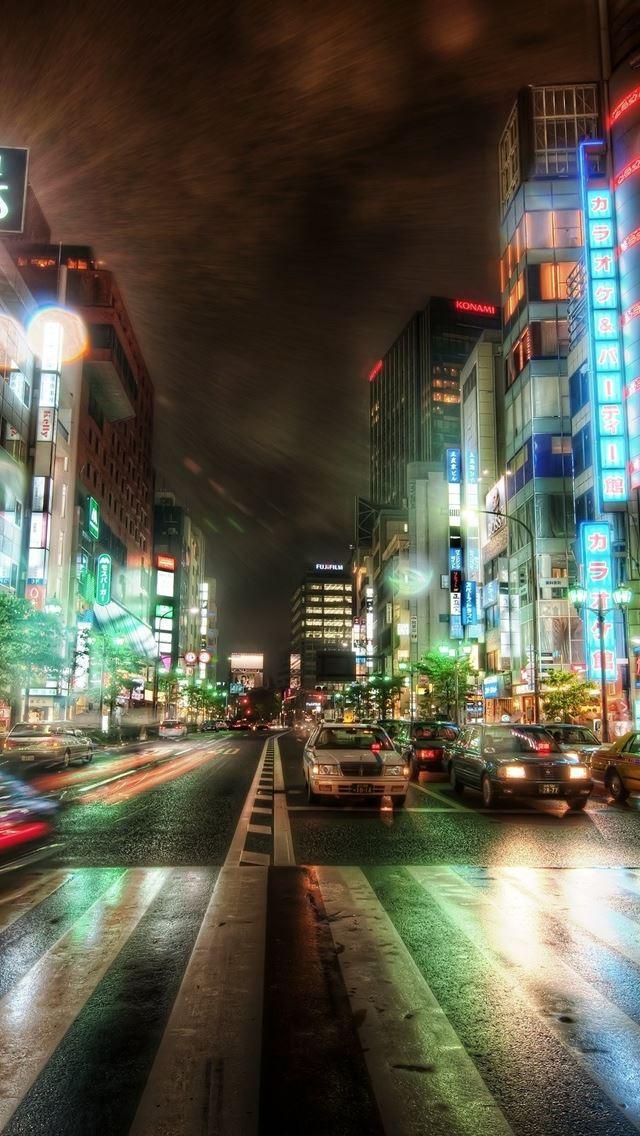 Tokyo HDR iPhone se wallpaper