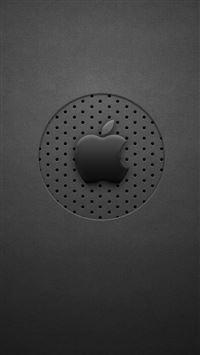 Black Dots Apple Logo iPhone se wallpaper
