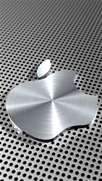 Metal Apple Logo iPhone se wallpaper
