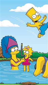 The Simpsons Summer Vacation iPhone se wallpaper