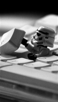 Star Wars Lego on Keyboard iPhone se wallpaper