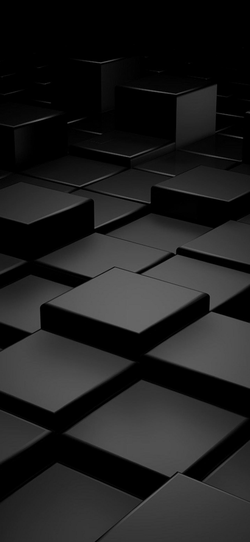 Black 3D Blocks iPhone se wallpaper