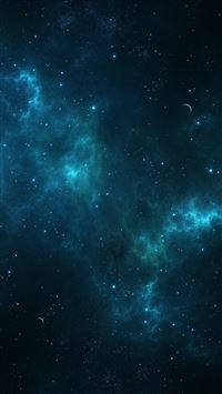 Blue Out Space iPhone se wallpaper
