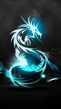 Dark Blue Dragon iPhone se wallpaper