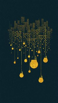 Lighting City iPhone se wallpaper