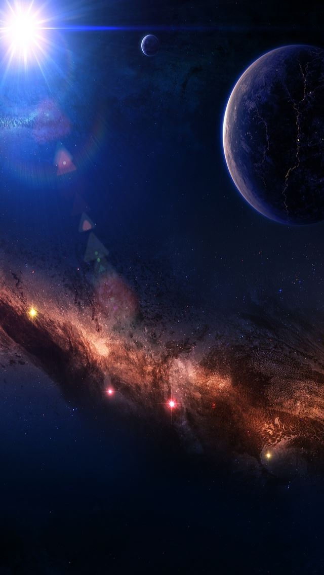 Around The World Space IPhone Se Wallpaper