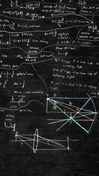 Blackboard And Math iPhone se wallpaper