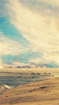 Sunset Beach iPhone se wallpaper