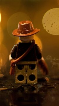 Indiana Jones Lego In The Rain iPhone se wallpaper